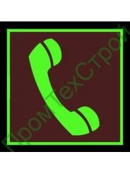 """F05 Знак """"Телефон"""" фотолюминесцентный"""
