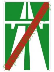 "Маска дорожного знака 5.2 ""Конец автомагистрали"""