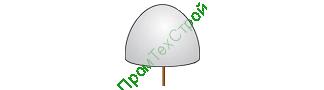 Полусфера бетонная ПБВ-500А
