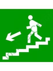 """E14 """"Направление к эвакуационному выходу по лестнице вниз левосторонний"""""""