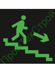 """E13 """"Направление к эвакуационному выходу по лестнице вниз"""" фотолюминесцентный"""