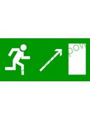Е05 знак Направление к эвакуац. выходу направо вверх