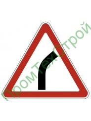 """Маска дорожного знака 1.11.1 """"Опасный поворот"""""""