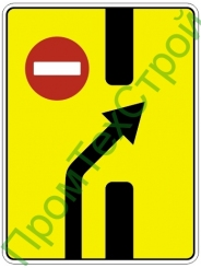 """Маска дорожного знака 6.19.2 """"Предварительный указатель перестроения на другую проезжую часть"""""""