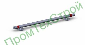 Колесоотбойник металлический КМ-2000/108х3,5 прямой на ножках
