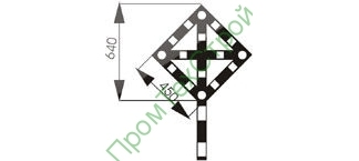 GD-10 Знак «Временный сигнальный знак - Поднять нож, опустить крылья (при наличии одного препятствия)»