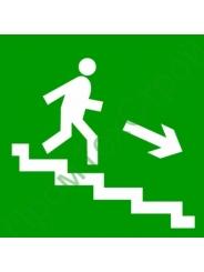 """E13 """"Направление к эвакуационному выходу по лестнице вниз"""""""