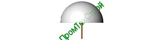Полусфера бетонная ПБ-500А