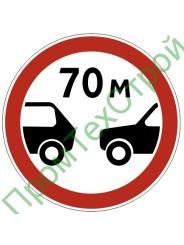 """Маска дорожного знака 3.16 """"Ограничение минимальной дистанции"""""""