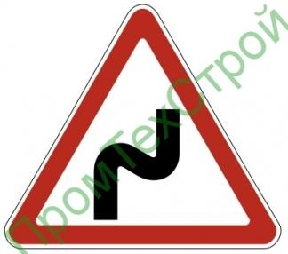 """Маска дорожного знака 1.12.1 """"Опасные повороты"""""""