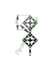 GD-09 Знак «Временный сигнальный знак - Поднять нож, опустить крылья (при наличии двух препятствий)»