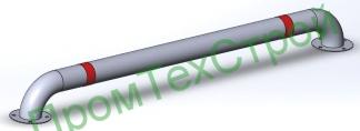 Колесоотбойник металлический КМ-2000/76х2,5 прямой на отводах