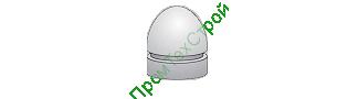 Полусфера бетонная ПБВ-490